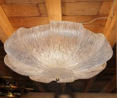 Barovier Toso Large Murano Clear Glass Mid Century Modern Flush Mount chandelier Barovier Sty - 1966557