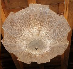 Barovier Toso Large Murano Clear Glass Mid Century Modern Flush Mount chandelier Barovier Sty - 1966558