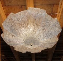 Barovier Toso Large Murano Clear Glass Mid Century Modern Flush Mount chandelier Barovier Sty - 1966559