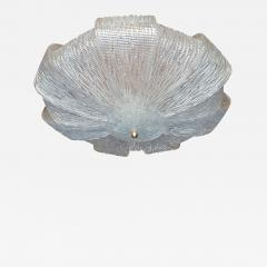 Barovier Toso Large Murano Clear Glass Mid Century Modern Flush Mount chandelier Barovier Sty - 1966978