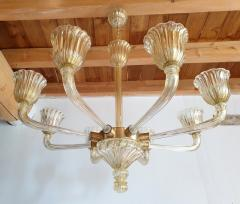 Barovier Toso Mid Century Modern Murano glass large chandelier by Barovier Italy 1960 - 1935066