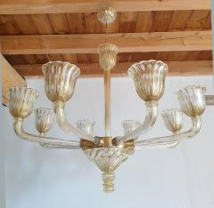 Barovier Toso Mid Century Modern Murano glass large chandelier by Barovier Italy 1960 - 1935067