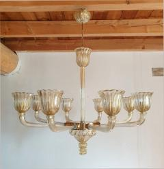 Barovier Toso Mid Century Modern Murano glass large chandelier by Barovier Italy 1960 - 1935068