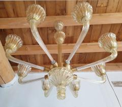 Barovier Toso Mid Century Modern Murano glass large chandelier by Barovier Italy 1960 - 1935069