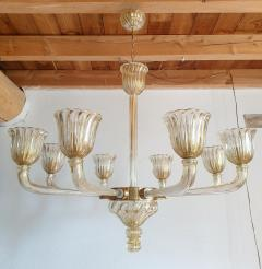 Barovier Toso Mid Century Modern Murano glass large chandelier by Barovier Italy 1960 - 1935070