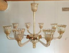 Barovier Toso Mid Century Modern Murano glass large chandelier by Barovier Italy 1960 - 1935071