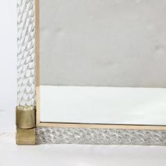 Barovier Toso Mid Century Murano Braided Glass Mirror with Brass Fittings by Barovier e Toso - 2004938
