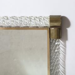 Barovier Toso Mid Century Murano Braided Glass Mirror with Brass Fittings by Barovier e Toso - 2004940