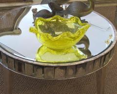 Barovier Toso Murano Barovier Toso Mid century Yellow Bullicante Art Glass Leaf form Bowl - 1286897