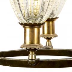 Barovier Toso Murano Deco Pendant Light Attributed to Barovier Toso Italy - 1489279
