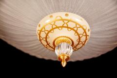 Barovier Toso Murano Glass Flush Mount or Ceiling Light Barovier e Toso Style 1950 - 2042105