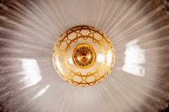 Barovier Toso Murano Glass Flush Mount or Ceiling Light Barovier e Toso Style 1950 - 2042120