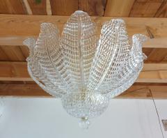 Barovier Toso Murano glass Leaves Mid Century Modern flush mount chandelier Barovier style 70s - 1959513