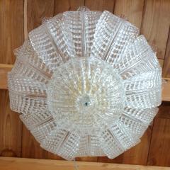 Barovier Toso Murano glass Leaves Mid Century Modern flush mount chandelier Barovier style 70s - 1959518