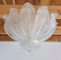 Barovier Toso Murano glass Leaves Mid Century Modern flush mount chandelier Barovier style 70s - 1959520