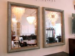 Barovier Toso Pair of Italian Modern Handblown Glass Bronze Illuminated Mirrors - 1210641