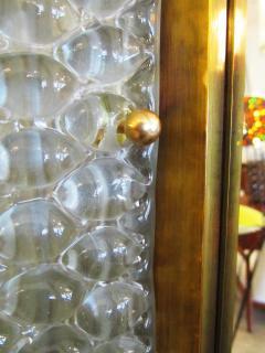 Barovier Toso Pair of Italian Modern Handblown Glass Bronze Illuminated Mirrors - 1210643