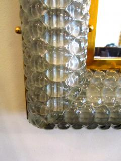 Barovier Toso Pair of Italian Modern Handblown Glass Bronze Illuminated Mirrors - 1210646