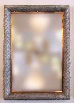 Barovier Toso Pair of Italian Modern Handblown Glass Bronze Illuminated Mirrors - 1210647