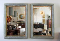 Barovier Toso Pair of Italian Modern Handblown Glass Bronze Illuminated Mirrors - 1214467