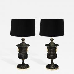 Barovier Toso Pair of Monumental and Important Glass Table Lamps by Barovier Toso - 193233