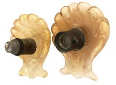 Barovier Toso Pair of Murano Shell Door Handles by Barovier and Toso - 1156836