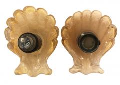 Barovier Toso Pair of Murano Shell Door Handles by Barovier and Toso - 1156837