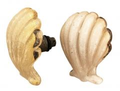 Barovier Toso Pair of Murano Shell Door Handles by Barovier and Toso - 1156838