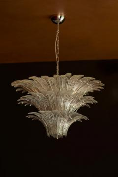 Barovier Toso Palmette Murano Glass Chandelier of Flush Mount in the Manner of Barovier Toso - 1101176