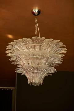 Barovier Toso Palmette Murano Glass Chandelier of Flush Mount in the Manner of Barovier Toso - 1101182