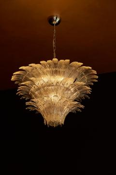 Barovier Toso Palmette Murano Glass Chandelier of Flush Mount in the Manner of Barovier Toso - 1101183