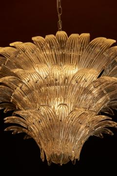 Barovier Toso Palmette Murano Glass Chandelier of Flush Mount in the Manner of Barovier Toso - 1101185