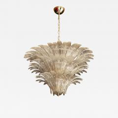 Barovier Toso Palmette Murano Glass Chandelier of Flush Mount in the Manner of Barovier Toso - 1103203