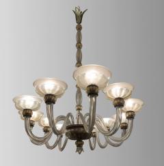 Barovier Toso Rare oval chandelier in Murano glass Italy circa 1940 - 1491329