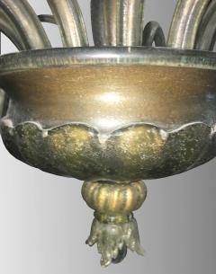 Barovier Toso Rare oval chandelier in Murano glass Italy circa 1940 - 1491331