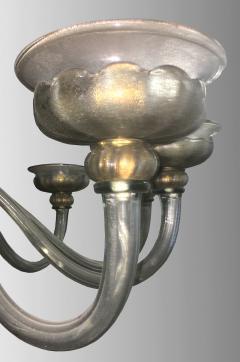 Barovier Toso Rare oval chandelier in Murano glass Italy circa 1940 - 1491333