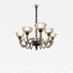 Barovier Toso Rare oval chandelier in Murano glass Italy circa 1940 - 1491361