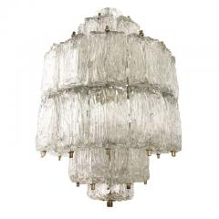Barovier Toso Textured Glass Barovier and Toso Chandelier Italy 1950 s - 1001354
