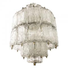 Barovier Toso Textured Glass Barovier and Toso Chandelier Italy 1950 s - 1001356