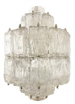 Barovier Toso Textured Glass Barovier and Toso Chandelier Italy 1950 s - 1001357