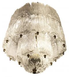 Barovier Toso Textured Glass Barovier and Toso Chandelier Italy 1950 s - 1001358