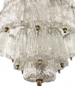 Barovier Toso Textured Glass Barovier and Toso Chandelier Italy 1950 s - 1001359