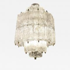 Barovier Toso Textured Glass Barovier and Toso Chandelier Italy 1950 s - 1002001