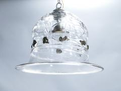 Barovier Toso Unique mid century Barovier Toso Murano glass and brass chandelier 1950s - 994547