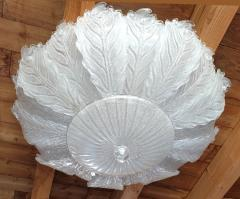 Barovier Toso Very Large Mid Century leaf Murano glass flush mount by Barovier Italy 1970s - 1603934