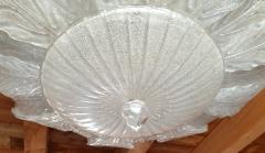 Barovier Toso Very Large Mid Century leaf Murano glass flush mount by Barovier Italy 1970s - 1603939