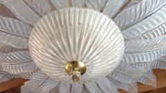 Barovier Toso very Large Flush mount Murano glass Chandelier Mid Century Modern Barovier - 2049578