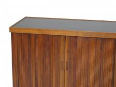 Barzilay Furniture Manufacturing Mid Century Barzilay Tambour Door Walnut Credenza - 1526385