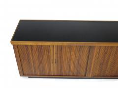 Barzilay Furniture Manufacturing Mid Century Barzilay Tambour Door Walnut Credenza - 1526389