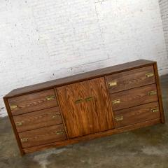 Bassett Furniture Bassett modern credenza buffet dresser in medium tone finish - 1938897
